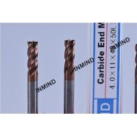 Wholesale HRC55  TiSiN TiAlN AlTiN Coating , Carbide End Mill , 4mm 4 Flute ,  Certizit  WF25 , Milling Cutter from china suppliers
