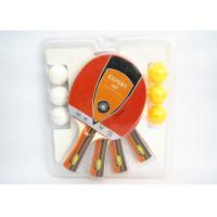 Wholesale Table Tennis Set 4 Bats With 6 ABS Balls 7mm Poplar Plywood 1.8mm Sponge With Color Handle from china suppliers