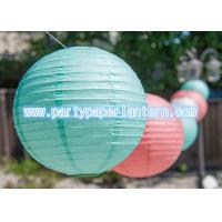 Wholesale Customized Blue Pink Party Paper Lantern For Outside Decoration Attractive from china suppliers
