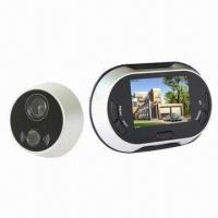 Wholesale Hot Selling 3.5-inch LCD Screen Door Viewer Camera with Video Function, 0.3 Megapixels from china suppliers