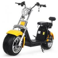 Wholesale EcoRider 18inch Big Tire 60V 1500w 2 wheel electric harly scooter with Shock absorber and double seats from china suppliers