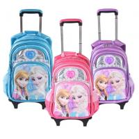 Wholesale Cute Disney 5D Frozen Anna and Elsa Princess School Bag Trolley Bag For Teenagers from china suppliers