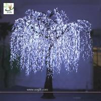 Wholesale UVG Led Green Willow Tree Light outdoor holiday decoration from china suppliers