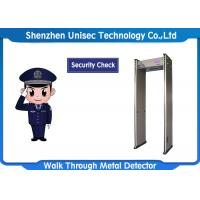 Buy cheap LCD Display 6/12/18 Zones Walk Through Metal Detector UB600 For Security Checking from wholesalers