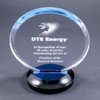 Wholesale Clear Round Acrylic Award Trophy With Laser Engraving Logo For Gift from china suppliers
