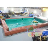 Wholesale Adults Inflatable Interactive Games Inflatable Table Snooker Pool Game With No.5 Balls from china suppliers