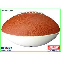 Wholesale Custom White / Brown Rubber Rugby Ball Machine Stitch for Entertainment from china suppliers