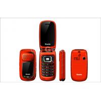 Wholesale Red Dual SIM Flip Model Mobile Phones 950mAh with Loudspeaker from china suppliers