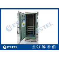 Wholesale IP55 Galvanized Steel Green Outdoor Power Cabinet / Outdoor Telecom Enclosure With Cooling System from china suppliers