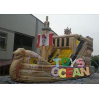Wholesale Outdoor Commercial Inflatable Pirate Ship With Water Slide 2 Years Warranty from china suppliers