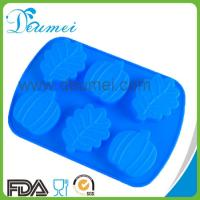 Wholesale 6-Pumpkin and Leaf Shaped Silicone Baking Mold/Silicone Cake Candy Mold from china suppliers