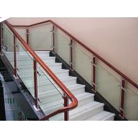Wholesale Clear / Light Green Safety Tempered Staircase Railing Glass With 10mm , 12mm Thickness from china suppliers