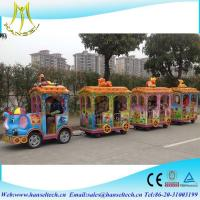 Wholesale Hansel buy Amusement park electric tourist trackless battery operated amusement train ride from china suppliers
