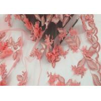 China Water Soluble Orange Mesh Lace Fabric Embroidery Small Flower For Dress on sale