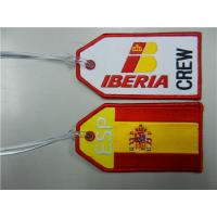 Wholesale Iberia Airlines Crew Spain Europe Air Plane Flight Fabric Luggage ID Bag Tag from china suppliers