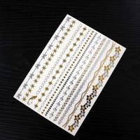 Wholesale OEM / ODM Metallic Gold Foil Hair Tattoo Sticker Temporary Hair Decoration from china suppliers