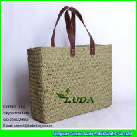 Wholesale LUDA new design straw wholesale bags and totes solid crochet straw shopping bag from china suppliers