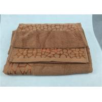 Wholesale Brown Bath Towels 70 x140 cm With Beautiful Embroidery Pattern from china suppliers