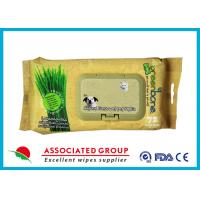 Wholesale Lemongrass Pet Cleaning Wipes / Dog Wet Wipes Deodorizing 72 Count from china suppliers
