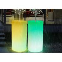 Wholesale Outdoor Illuminated Rechargealbe LED Flower Pots Vertical Planter Big Size Decorative Vases from china suppliers