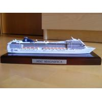 Wholesale Customized Design Wooden Model Boats With MSC Magnifica Cruise Ship Shaped from china suppliers