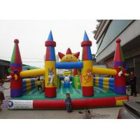 Wholesale Professional Decoration Inflatable Amusement Park With Big Castle And Slide from china suppliers