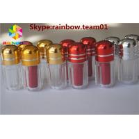 Wholesale Blue/Gold/Red/Silver Capsule Pills Shape Bottle With Metal Capsex pill bottle container plastic pill bottles for sale from china suppliers