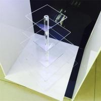Wholesale clear acrylic 5 tier square cake display racks cupcake stand for birthday cake display rac from china suppliers