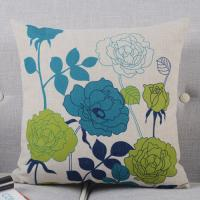 Heavy Weight Linen Digital Printed Leaves Home Decor Pillows For Sofa