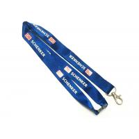 Wholesale Blue Logo Nylon Neck Strap Both Sides Metal Hook Safety Breakaway 900*20 Mm from china suppliers