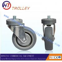 Wholesale PU Castors Of Shopping Trolley Spare Parts With Double Bearings from china suppliers