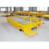 Buy cheap 10000 kg heavy duty travelling platform on rail for cement plate handling from wholesalers