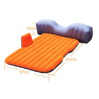 Hot-sell PVC Flocking Outdoor Leisure Equipment Light-weight Auto Relax Bed Inflatable Sleeping Mattress 143*87*35cm