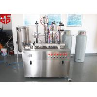Wholesale Semi Automatic Hair Spray Aerosol Filling Machine 5000-8000cans/shift from china suppliers