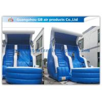 Wholesale Blue Color Inflatable Water Slides For Adults , Inflatable Swimming Pool Water Slide from china suppliers