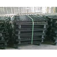Quality 6mm Thickness Industrial Pallet Racks Steel Wire Mesh Containers Stackable for sale