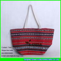 Wholesale LUDA canvas messanger bag wholesale sadu straw beach bag with rope handles from china suppliers