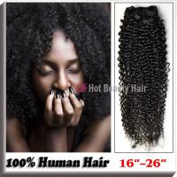 "Wholesale Natural Black 100 Indian Remy Hair Extensions 14"" - 28"" , Kinky Curly Human Hair from china suppliers"