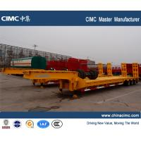 Wholesale CIMC 80ton lowbed equipment trailers for sale in Russia from china suppliers