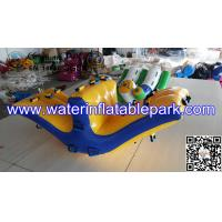China 0.9mm PVC Tarpaulin Inflatable Water Park Toys , Yellow Inflatable Water Rocker on sale