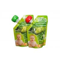 Wholesale Vivid Printing Baby Food Spout Pouches With Bottom Gusset And Corner Spout from china suppliers
