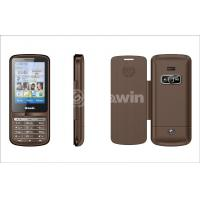 Wholesale Brown fm mobile phones , bar cell phone with 850Hz / 900Hz / 1800Hz / 1900MHz from china suppliers