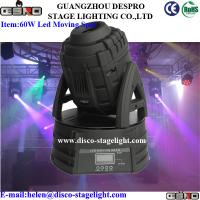 Wholesale Stage Lighting Equipment 60W Led Moving Head Spot Light DMX Control from china suppliers