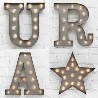Wholesale Vintage Metal Small Marquee Letter Lights For XMAS / Wedding Party Decor from china suppliers