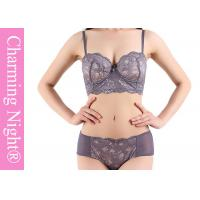 Wholesale ODM Service Woman Sexy Sponge Bras With Lace Mesh Transparent Briefs Panty from china suppliers