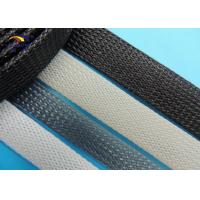 Quality Cable 4mm - 70mm black PET expandable sleeving protect cable / wire harness for sale