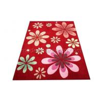 Wholesale Custom Red Floral Area Rug, Hand-tufted Acrylic Decorative Area Rugs from china suppliers