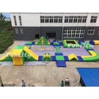 Wholesale 0.9mm PVC Tarpaulin Inflatable Water Park For Resort / Seashore from china suppliers