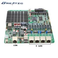 Wholesale Fanless INTEL Bay Trail Celeron J1800 Quad LAN Motherboard With WIFI from china suppliers
