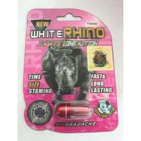 Wholesale White Rhino 7 Days Long Sex Action Best Male Libido Pills / Male Sex Drive Pills from china suppliers